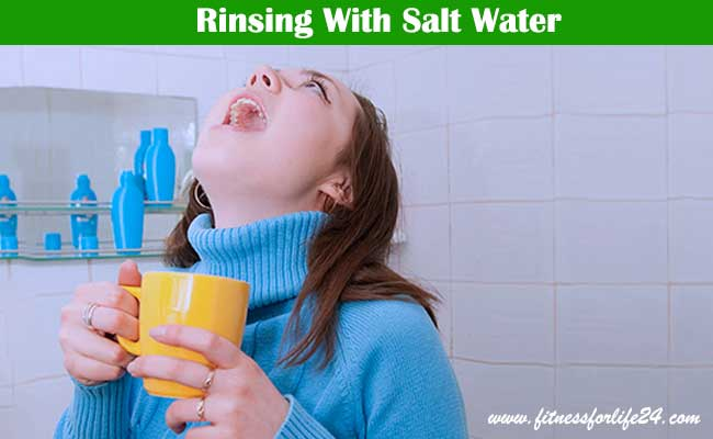 Rinsing With Salt Water