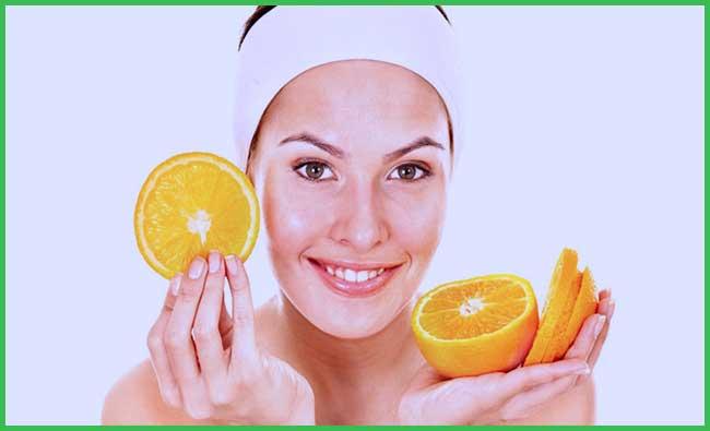 orange peel and lemon