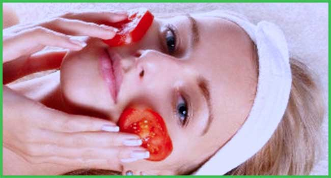 tomatoes halves for skin care