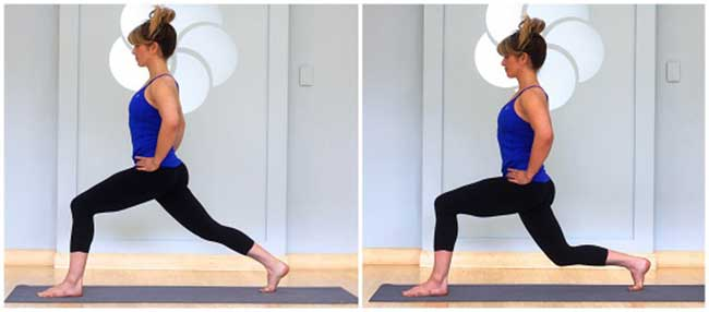 Lunge pose for runners