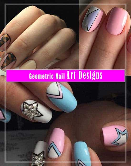 Geometric Nail Art Designs