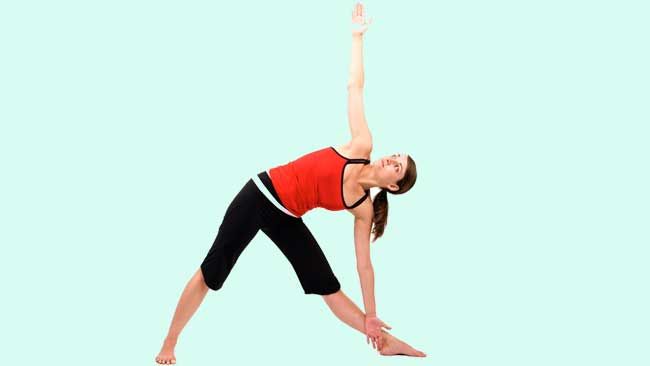 Triangle Exercise for blood circulation