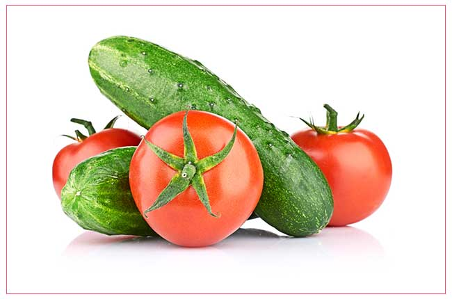 Cucumber and Tomato Face Pack
